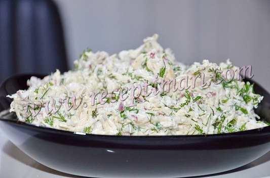 салат с курицей и редисом