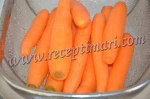морковь почистить помыть