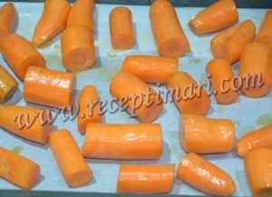 выложить морковь на пергамент