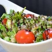 салат с киноа огурцами и томатами черри
