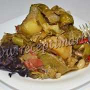 тушенная картошка с фасолью