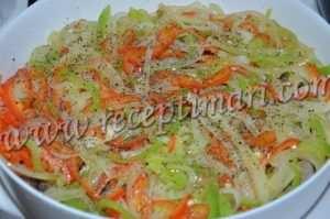 телятиу покроем овощами