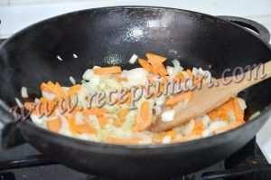 обжарим овощи на растительном масле