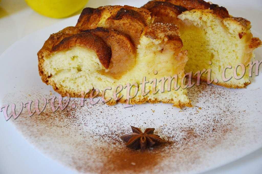 домашний яблочный пирогг с корицей