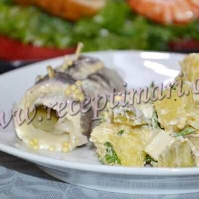 картофельный салат к селедке