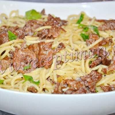 паста с лисичками рецепт