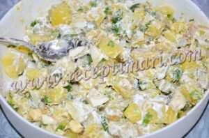 перешайте салат