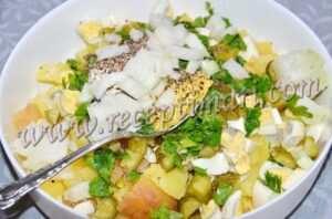 соль перец рубленный лук