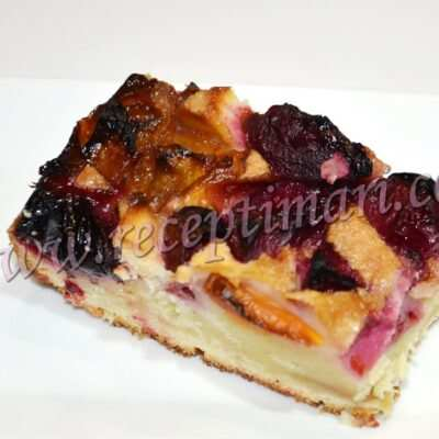 фруктовый пирог в фуховке