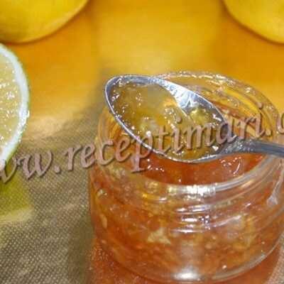 лимонный джем с цедрой