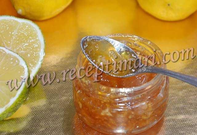 Лимонный джем с цедрой.