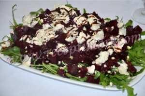 салат свекла руккола орежки