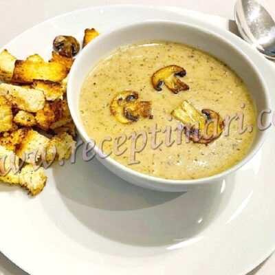 рецепт грибного супа из шампиньонов с курицей