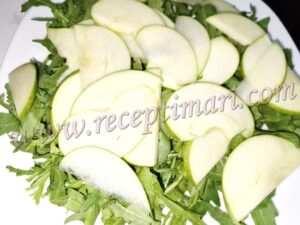 руккола яблоки