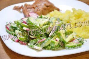 вкусный легкий салат