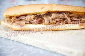 сендвич с луком